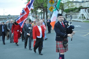 Piping the Toastmasters into Dun Laoghaire